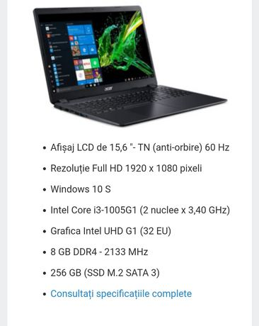 Laptop Acer Aspire 3 A315-56-33WN