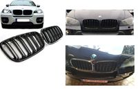 Grile Centrale Duble BMW X5/X6 2007-2013 Negru lucios Nari Capota