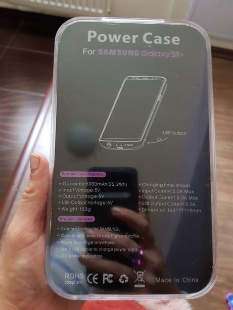 Carcasa de protectie cu baterie externa pt. Samsung galaxy S9 +