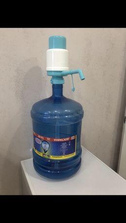 Минеральная очищенная вода. Помпы для Воды. Бесплатная доставка