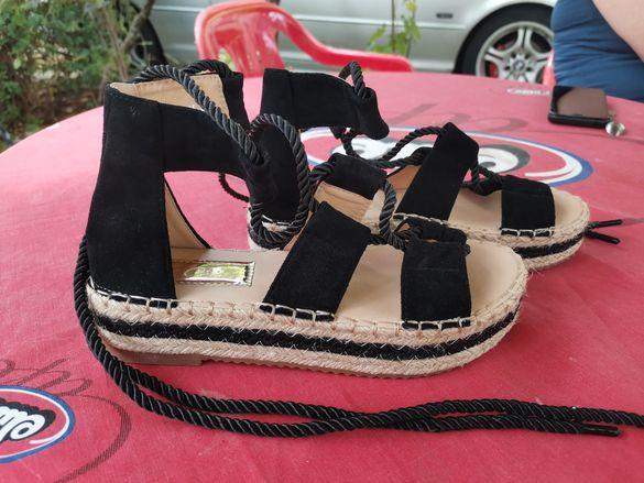 Дамски  сандали с връзки