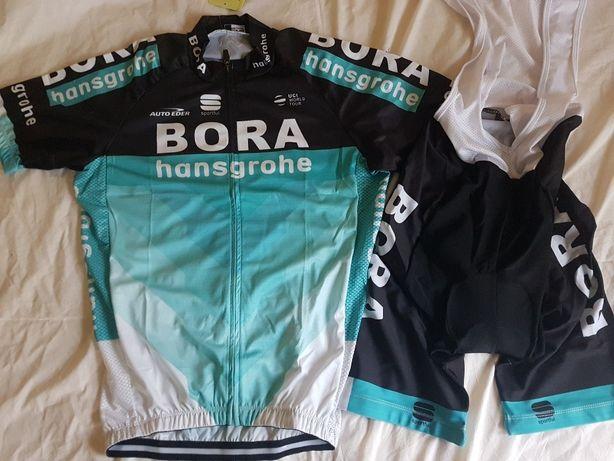 Echipament ciclism BORA Hansgrohe 2019 set pantaloni tricou NOU