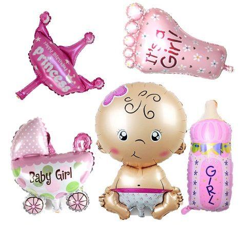 5 балона за бебе - изписване, питка, кръщене, рожден ден