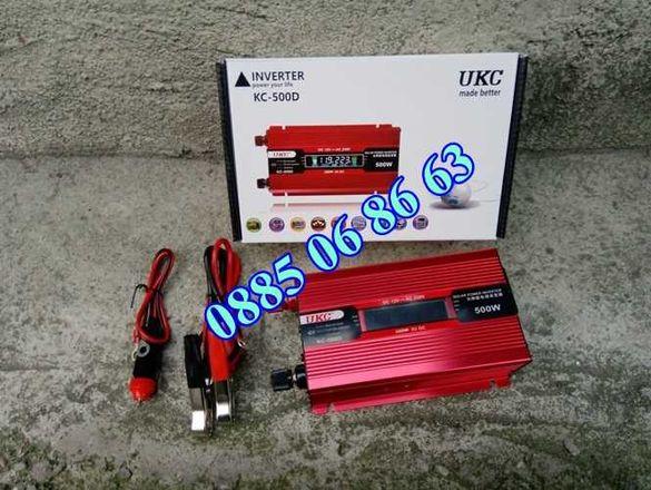 Инвертор с Дисплей 12V-220V, 500W, 1000W, 2000W (UKC)