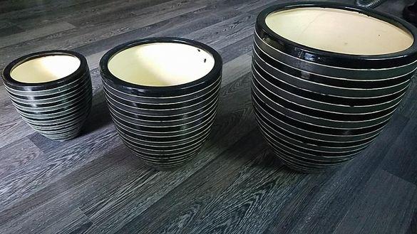 керамични саксии - ръчна изработка, 2 бр