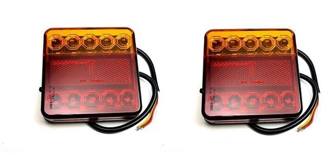 Set 2 Lampi Auto LED Spate,4 Functii, Remorca, Camion, Trailer, 12-24V