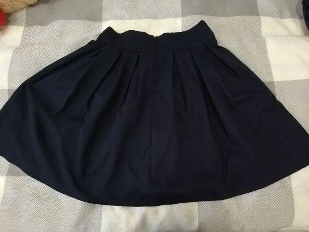 Школьная юбка темно-синего цвета