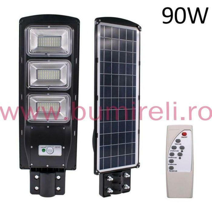 Lampa solara led,proiector 90w cu telecomanda,senzor de miscar,lumina Radauti - imagine 1