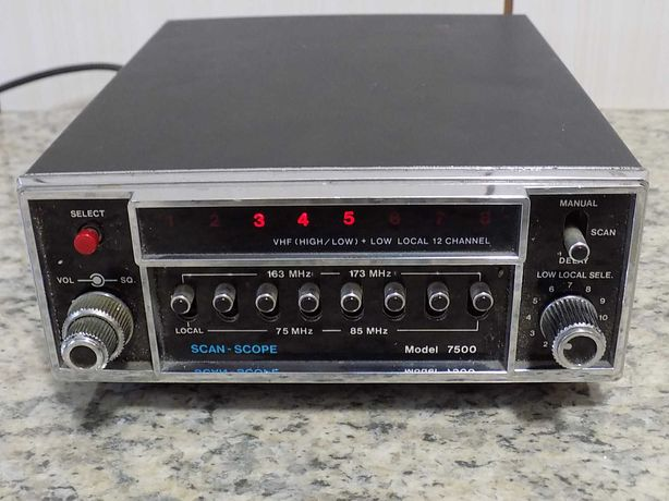 Radio scanner vintage Scan-Scope 7500 - made in Japan