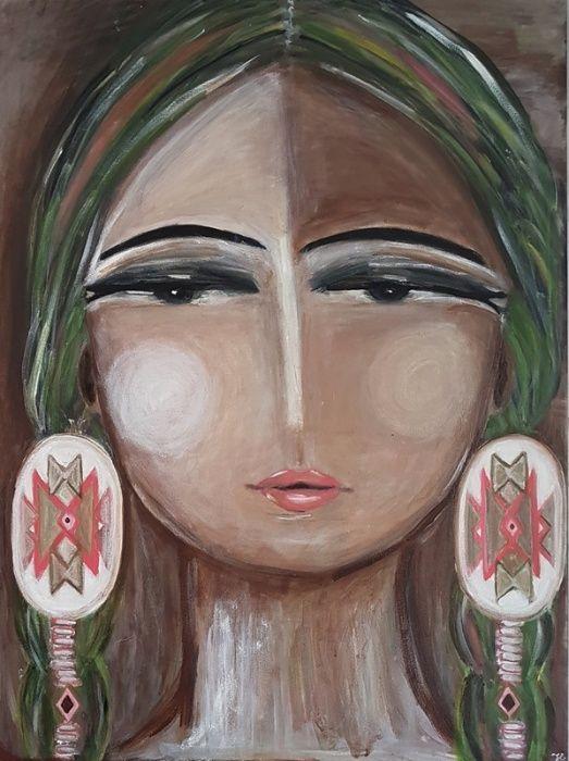 """Pictura abstract """"generatie nativi americani"""""""