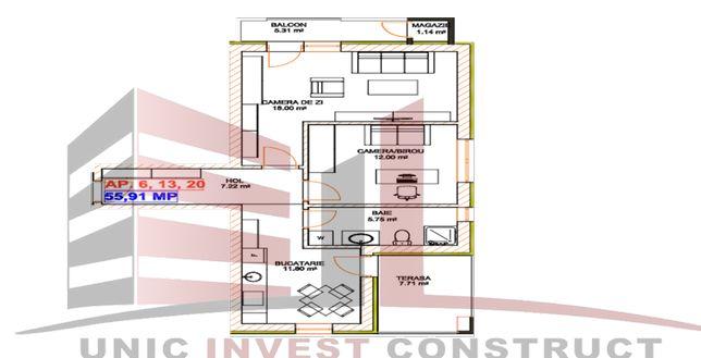Vand Apartament de 2 Camere zona Piata Rahovei