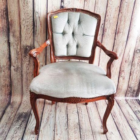 Кресло барок - синьо