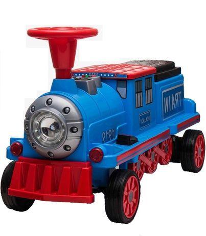 Trenulet electrica pentru copii SX1919 90W 12V STANDARD #Albastru
