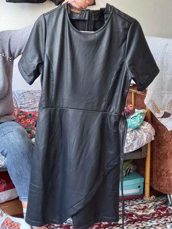 Платье кожаное с начесом