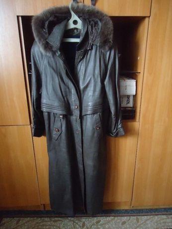Продам кожаный плащ пр-во Турция р.52-54