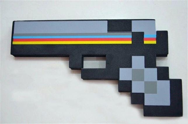 Jucarie pistol, arma neagra plus/burete minecraft copii / cadou craciu