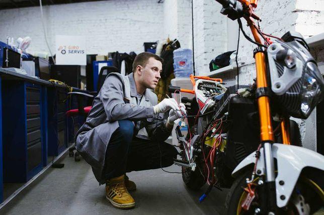 Ремонт электро мотоциклов самокатов скутеров электросамокатов сервис