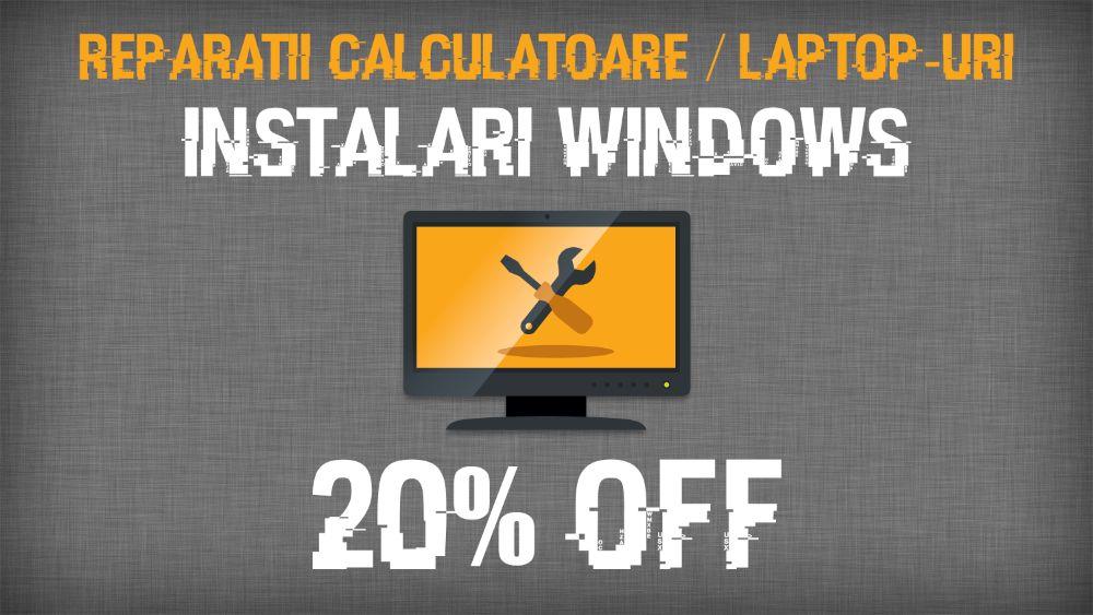 Instalare Windows 7/8.1/10 (licentiat) | Reparatii calculatoare/laptop Cluj-Napoca - imagine 1