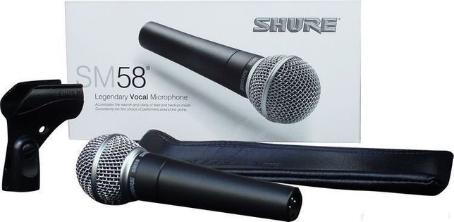Microfon Shure SM58 pentru concerte, prezentari