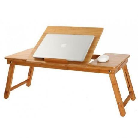 Средна Маса за лаптоп от бамбук с два мощни вентилатора