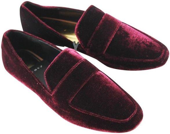Mocasini Zara burgundy