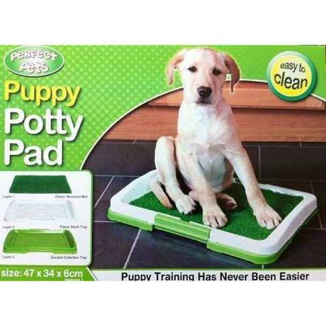 Puppy Potty Pad кучешка тоалетна с решетка и изкуствена трева