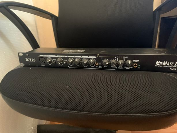 Rolls RM74, Mix Mate2, Microphone Stereo Mixer, Preamp, Rack