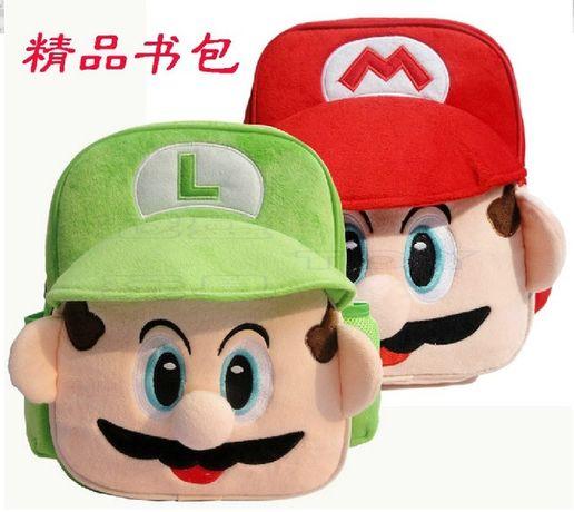 Мягкие плюшевые рюкзаки Марио и Луиджи