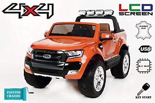 Masinuta electrica pentru 2 copii Ford Ranger 4x4 cu LCD #Orange Matt