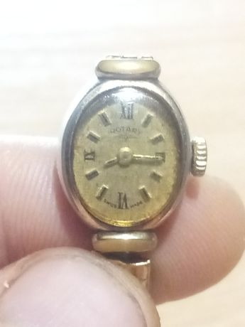 Позлатен дамски швейцарски часовник ROTARY