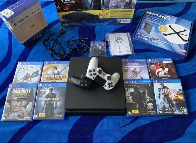 Продается PlayStation 4 Slim 500Gb + 13 Игр