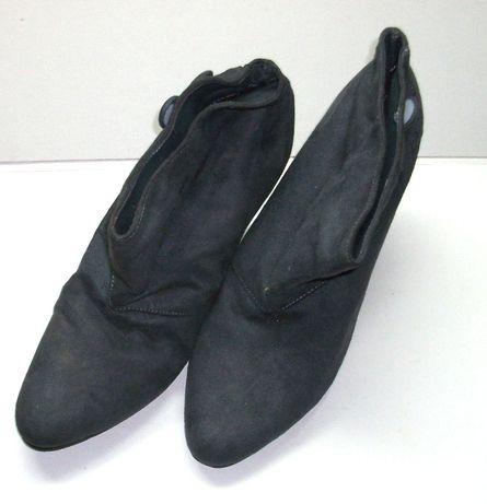 Vand cizme de dama gri, din piele intoarsa, marimea 41, noi