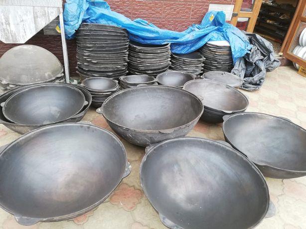Чугунные Сковородки с диаметром 24 см,28 см и т.д. Чугунные Казаны