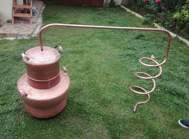 Vând un cazan de făcut țuică cazanul are 70 de litri 80 litri 90 litri