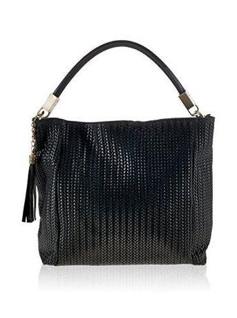 Нова черна дамска чанта от естествена кожа Giulia Rebecca