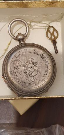Ceas de buzunar argint marcaj 84 rusia țarista anii 1890 antic