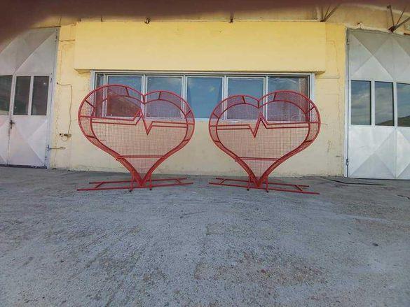 Метално сърце за събиране на капачки
