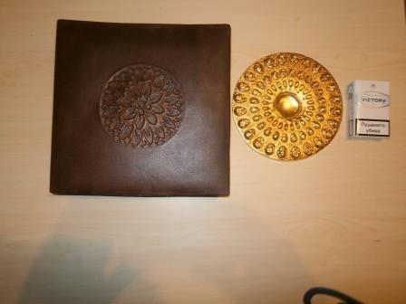 Подарък позлатено копие на Панагюрското съкровище.