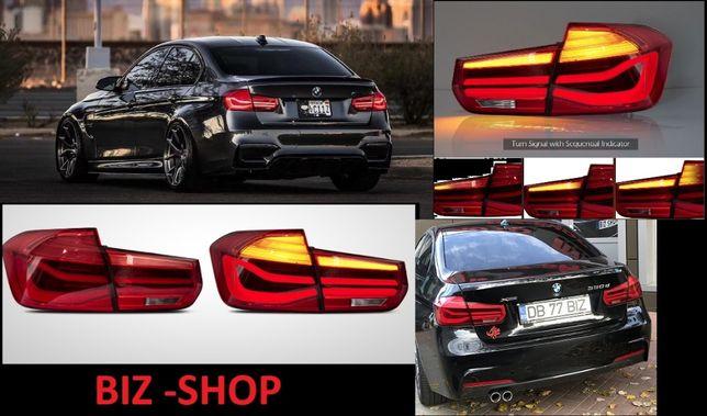 Stopuri LED BMW Seria 3 F30 (2011-2014) Rosu Clar LCI Design