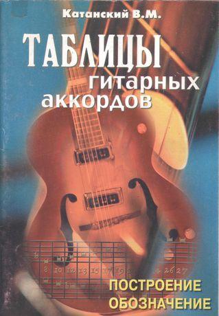 Катанский В.М. Таблицы гитарных аккордов.