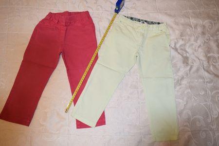 2 Pantaloni eleganti, culori deosebite , H&M, (COPII 4-5 ANI)