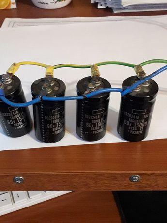 Condensatori filtrare 15000 micro / 60 V