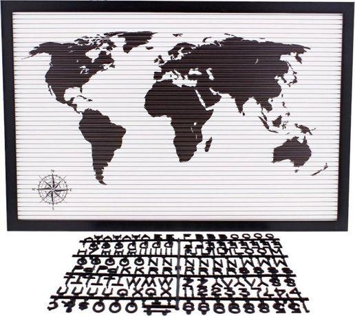 Атрактивно табло за надписи с 145 букви, цифри и знаци. Карта на земят