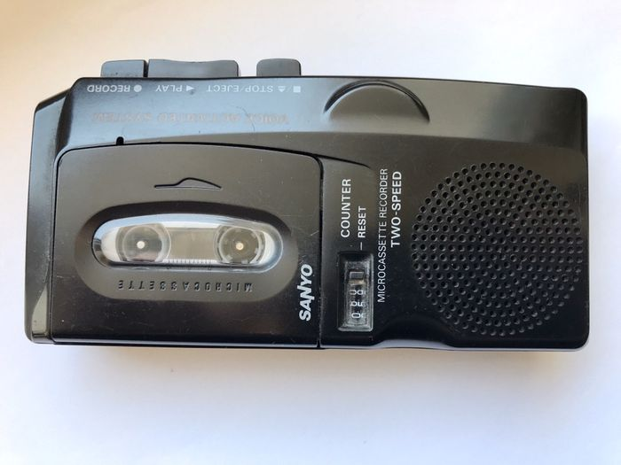 Reportofon Microcassette Recorder Sanyo M-5699 two speed
