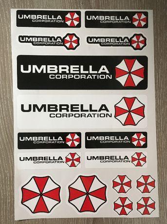 Umbrella Corporation 16бр. стикери различни размери Stickers Спонсории