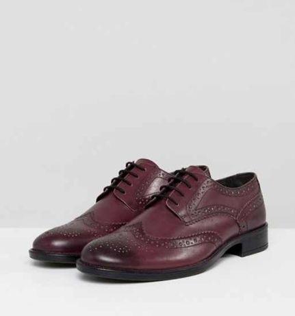 Pantofi Bordeaux din piele naturala