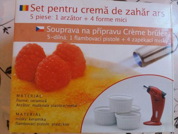 Set pentru crema de zahar ars