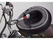 Заключваща система- карабина за каска за мотор.