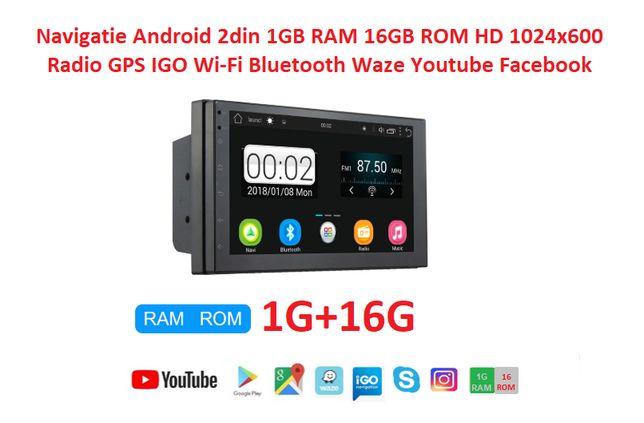 Navigatie 2DIN Android 9.1 1GB RAM, 16GB ROM , WiFi, 3G, GPS RADIO
