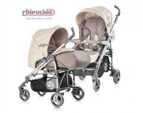 Комбинирана бебешка количка Chipolino Pooky капучино 0+
